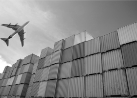 plane-and-containers